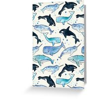 Whales, Orcas & Narwhals Greeting Card