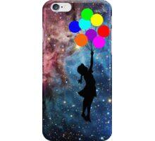banksy ballon galaxy  iPhone Case/Skin