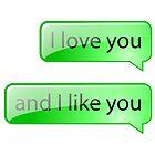 I love you and I like you by puppaluppa