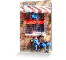 Neighborhood Barber Shop Greeting Card