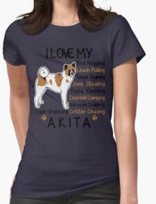 Akita Lover Womens Fitted T-Shirt