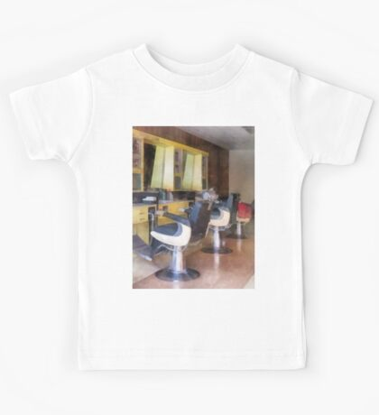 Small Town Barber Shop Kids Tee