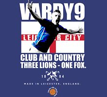 Jamie Vardy LCFC, Club and Country Unisex T-Shirt