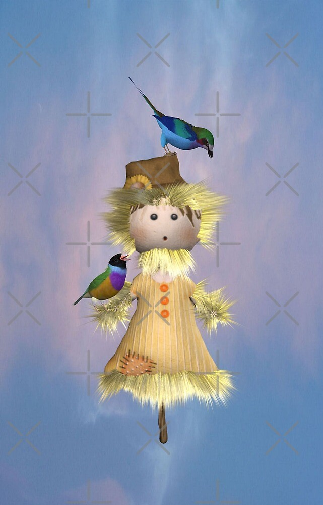 Lady Scarecrow with Birds  by LoneAngel