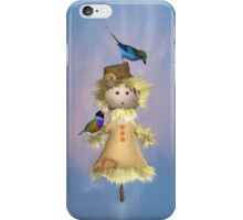 Lady Scarecrow with Birds  iPhone Case/Skin