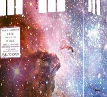 tardis galaxy Sticker