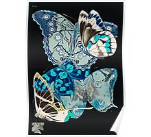 Emile Allain Séguy or Seguy Papillons Butterflies 1925 035 Inverted Poster