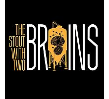 The Stout with Two Brains Photographic Print