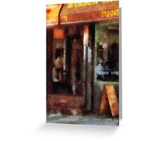 West Village Barber Shop Greeting Card
