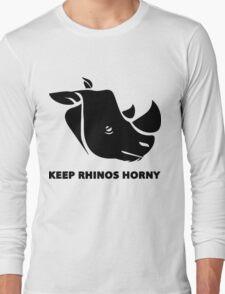 Keep Rhino Horny Long Sleeve T-Shirt