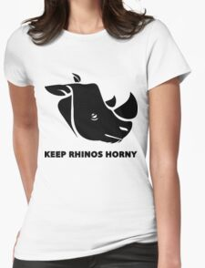 Keep Rhino Horny Womens Fitted T-Shirt