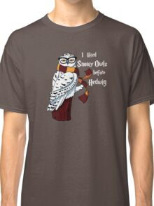 Harry Potter Inspired Hipster Owl Classic T-Shirt