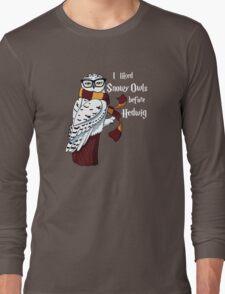 Harry Potter Inspired Hipster Owl Long Sleeve T-Shirt