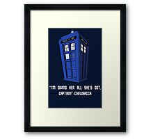 Doctor Who Misquote Framed Print