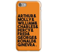 Weasley Family iPhone Case/Skin