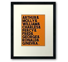 Weasley Family Framed Print