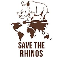 Save the Rhinos Photographic Print