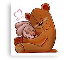 Honey Bunny Bear Canvas Print