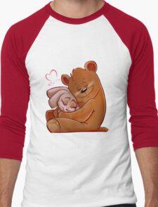 Honey Bunny Bear Men's Baseball ¾ T-Shirt