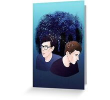 Dan and Phil Starry Sky Greeting Card