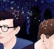 Dan and Phil Starry Sky Sticker