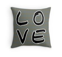 LOVE in Psychedelic  Throw Pillow