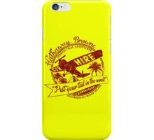Hathaway For Hire (Red-Yellow) iPhone Case/Skin