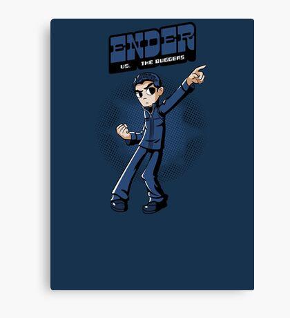 Ender vs. The Buggers Canvas Print