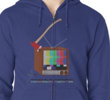 Technicolor Execution Zipped Hoodie