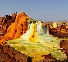 Sulfur springs at Dalol, Ethiopia by Dustin Johnson