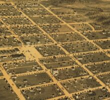 Bird's eye view of Owatonna, Steele County, Minnesota (1870) Sticker