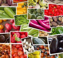 Fruits and Vegetables Collage by ezumeimages