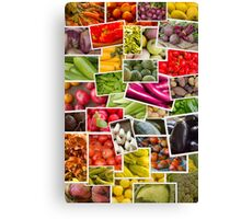 Fruits and Vegetables Collage Canvas Print