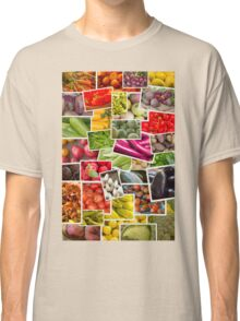 Fruits and Vegetables Collage Classic T-Shirt