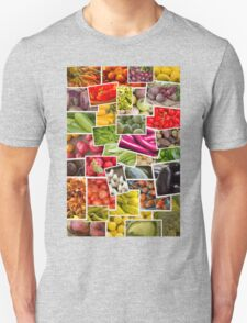 Fruits and Vegetables Collage T-Shirt