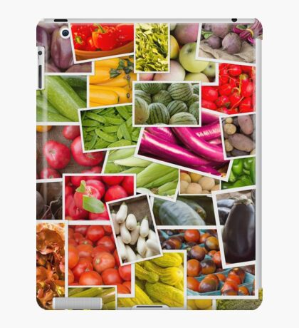 Fruits and Vegetables Collage iPad Case/Skin