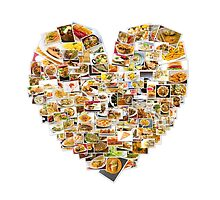 World Cuisine Collage Heart by ezumeimages