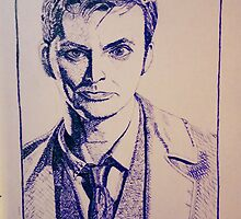 Tenth Doctor Drawing by Melody Harbinger