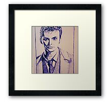 Tenth Doctor Drawing Framed Print