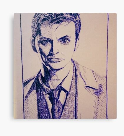 Tenth Doctor Drawing Canvas Print
