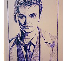Tenth Doctor Drawing Photographic Print
