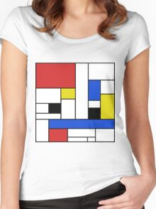 Mondrian Lines Women's Fitted Scoop T-Shirt