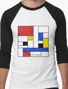Mondrian Lines Men's Baseball ¾ T-Shirt