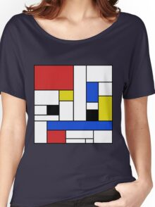 Mondrian Lines Women's Relaxed Fit T-Shirt