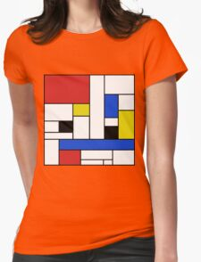 Mondrian Lines Womens Fitted T-Shirt
