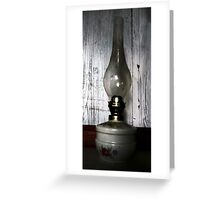 Old Oil Lamp . Greeting Card