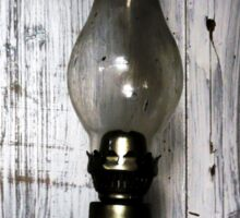 Old Oil Lamp . Sticker