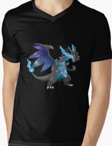 Mega Charizard X - Pokemon Mens V-Neck T-Shirt