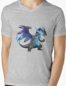 Mega Charizard X - Pokemon Mens V-Neck T-Shirt
