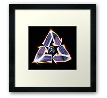 Solar Panel Earth Recycle Framed Print